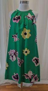 J. Crew floral punk silk crossback swoop dress 8